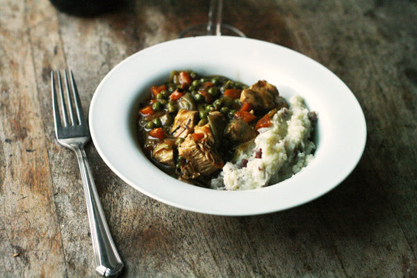 Chicken Leek Stew with Mashed Potatoes Recipe