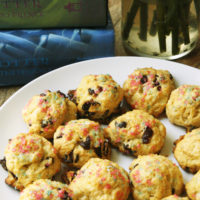 Mini Dark Chocolate Cranberry Rock Cakes