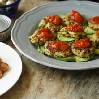 Bruschetta Tuna Patties with Fresh Avocado