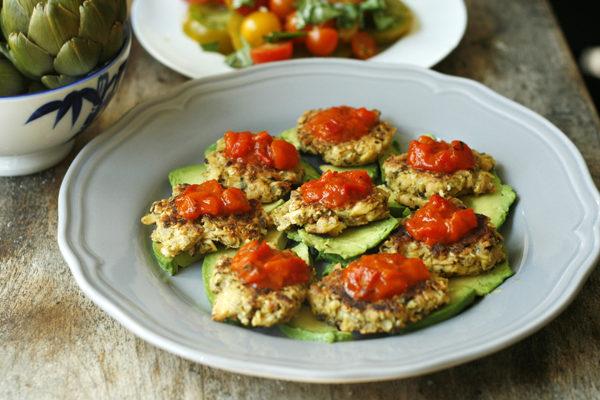 Bruschetta Tuna Patties with Fresh Avocado Recipe