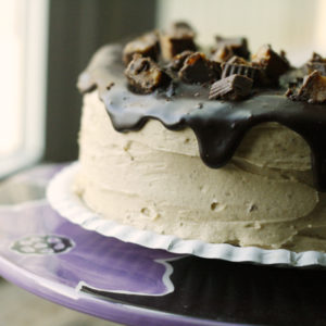 Peanut Butter Lovers Chocolate Cake Recipe with Peanut Butter Frosting