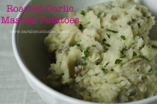 How to Make Roasted Garlic Mashed Potatoes with Parsley