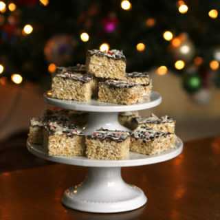 Peppermint Bark Rice Krispies Treats