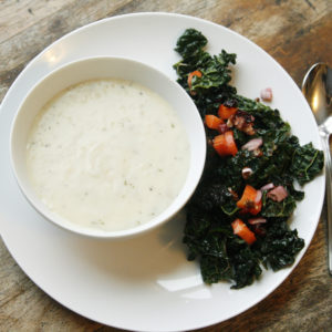 restaurant-style-crunchy-kale-salad-and-potato-soup