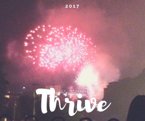 My word for 2017 - Thrive