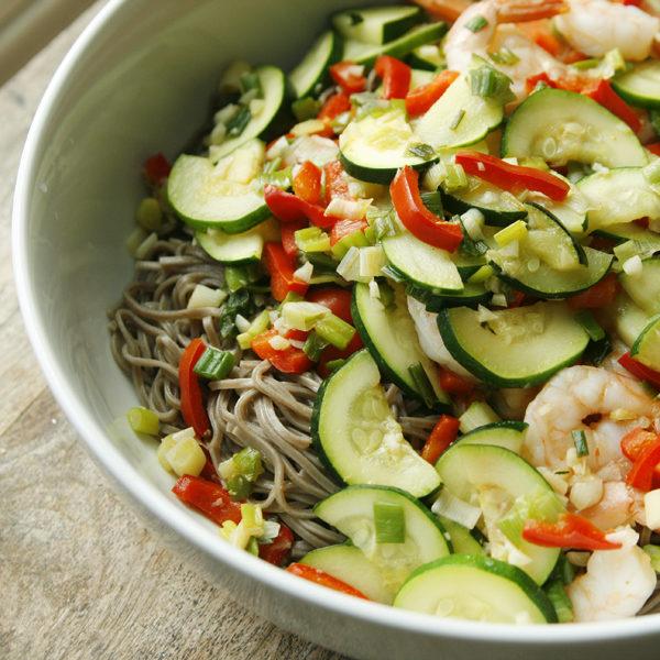 Shrimp and Vegetable Soba Noodles - Sarah's Cucina Bella