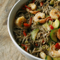 Shrimp and Vegetable Soba Noodles