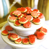 Strawberry Sugar Cut-Out Cookies