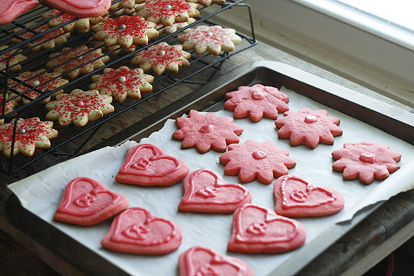 Cut-Out Strawberry Sugar Cookies