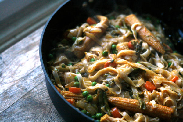 Vegetarian Thai Red Curry with Asparagus is an easy recipe made by ...