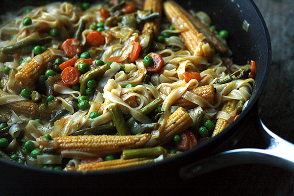 Vegetarian Thai Red Curry with Asparagus