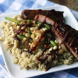 Quinoa Bowls with Ribs and Sautéed Veggies