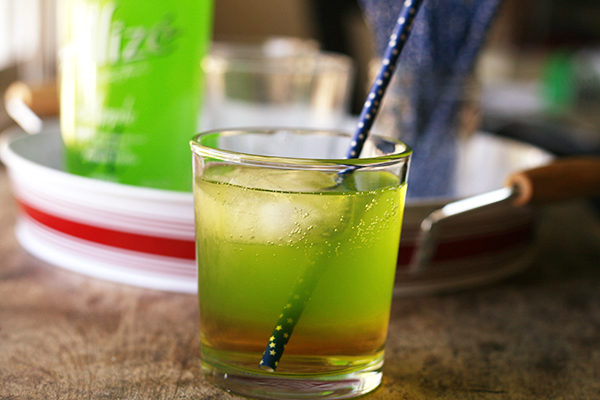 Spiked Double Apple Spritzer (or Elphaba's Revenge)