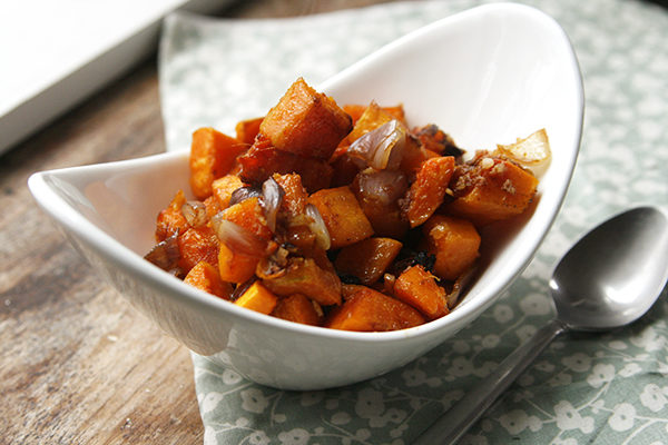 Garlic Ginger Roasted Butternut Squash