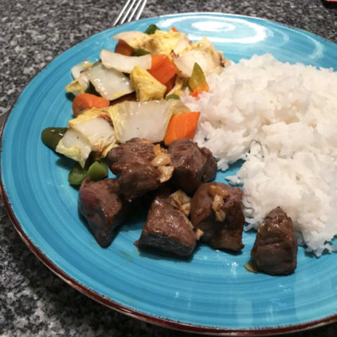Garlic Ginger Soy Marinated Steak Tips