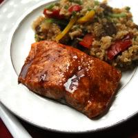 Honey Hoisin Broiled Salmon