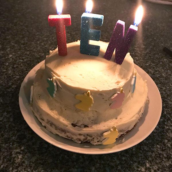 Tiered Confetti Cake