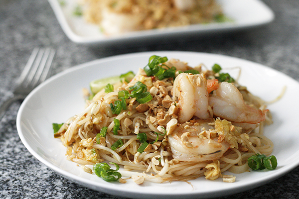 Pad Thai for Two with Shrimp