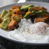 Sweet Potato Avocado Hash