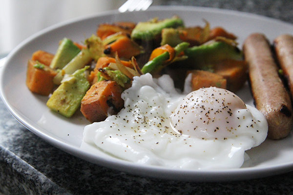 Sweet Potato Avocado Hash