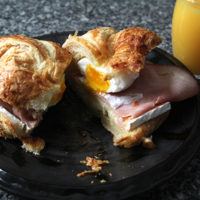 Ham, Egg and Brie Croissant Breakfast Sandwich