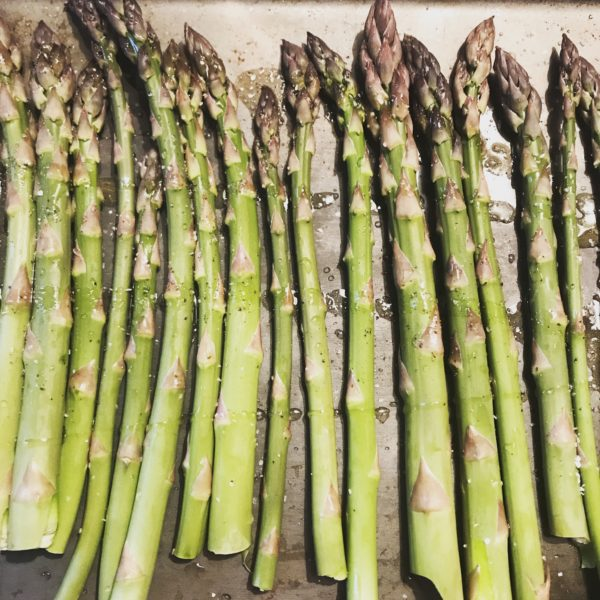 Fresh asparagus from our Maine farmers' market