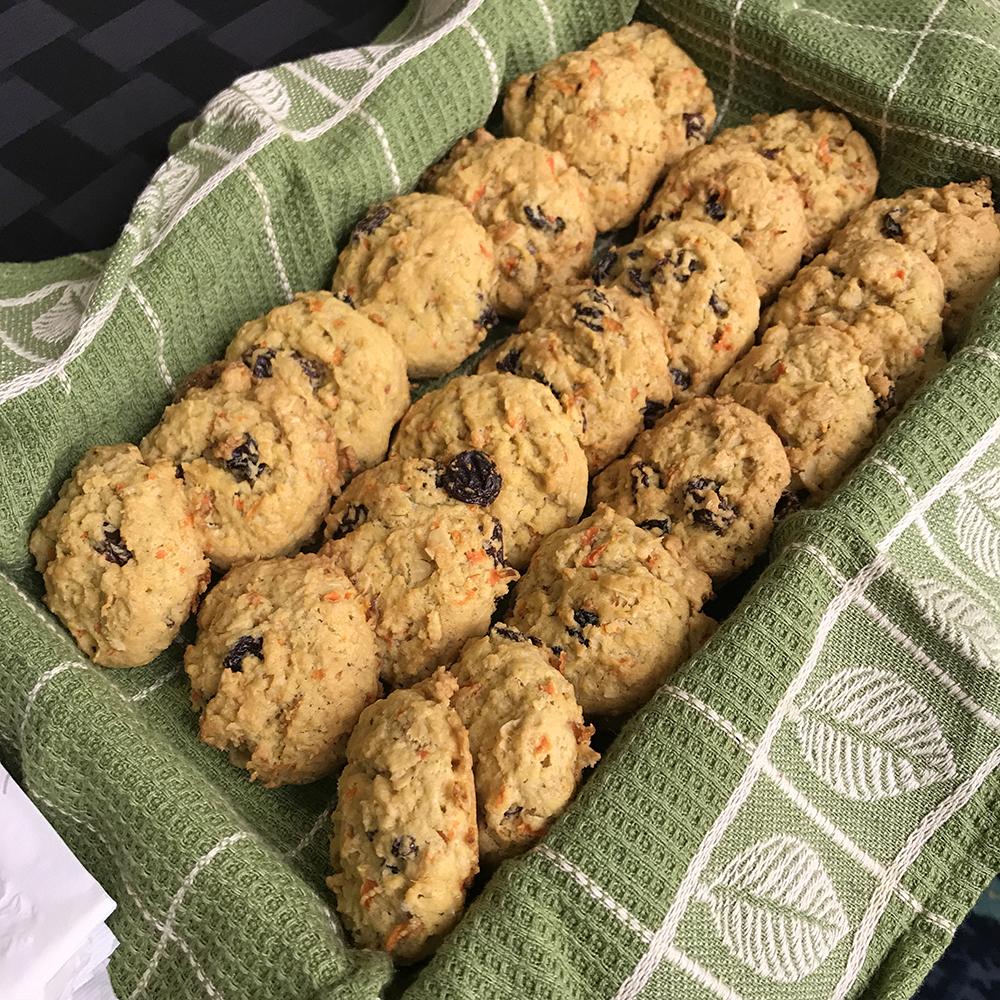 Carrot Oatmeal Raisin Cookies Recipe | Egg-Free Cookies