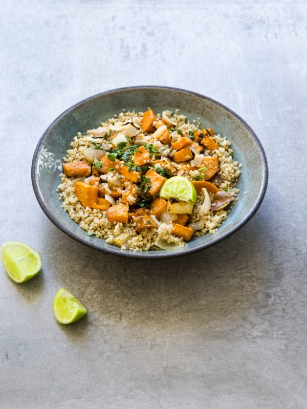 Lime Quinoa Salad with Sweet Potatoes