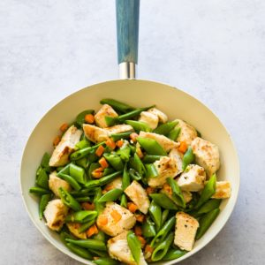 Chicken Snow Pea Skillet