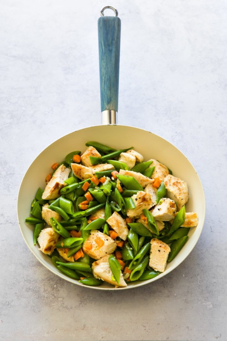 Easy 5-Ingredient Chicken Snow Pea Skillet