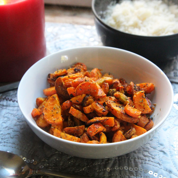 Roasted Carrots with Garlic and Herbs | A Make-Ahead and Save Recipe