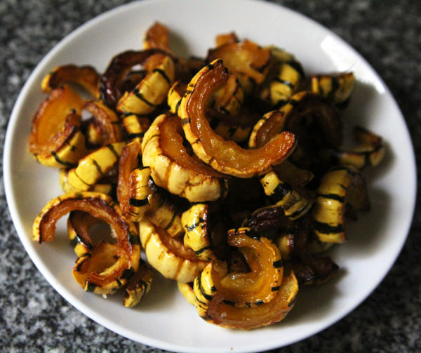 Caramelized and tender, this recipe for Easy Delicata Squash is a lovely way to enjoy this hard squash.