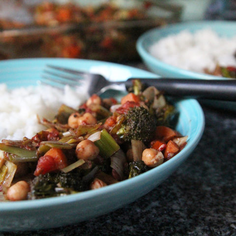 Baked Vegetables with Chickpeas and Garam Masala