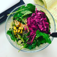 Pickled Red Cabbage on a Quinoa Bowl