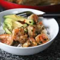 Spicy Garlic Butter Shrimp with Shallots
