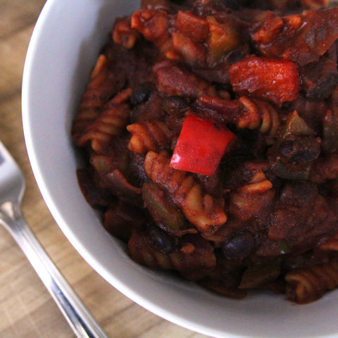 Black Bean Veggie Enchilada Rotini