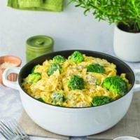 Creamy Gorgonzola Fettuccine with Broccoli