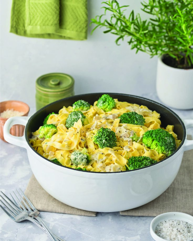 Creamy Gorgonzola Fettuccine with Broccoli