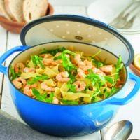 Lemon Garlic Shrimp One-Pot Pasta with Arugula