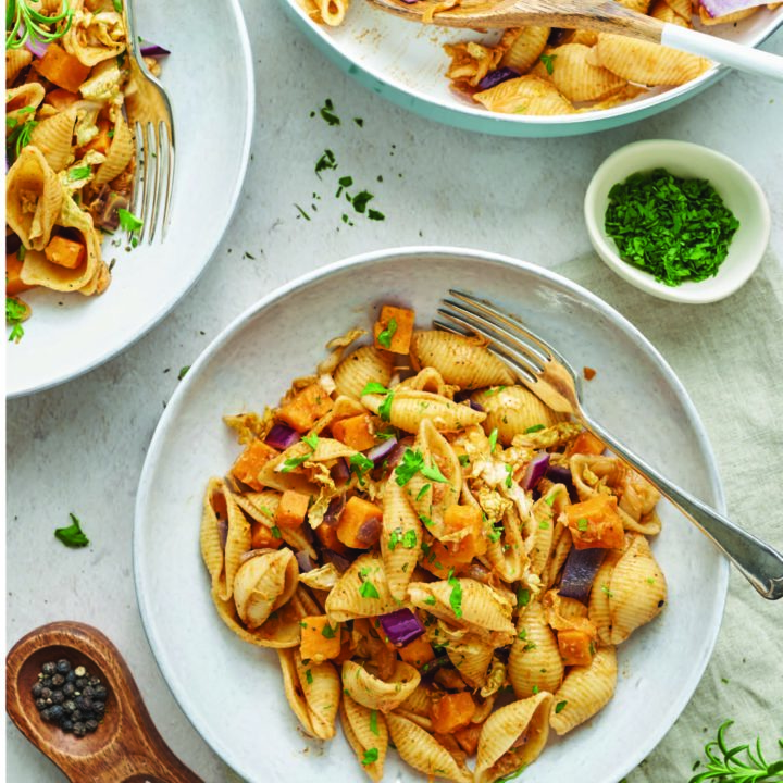 Fragrant Sweet Potato and Red Onion Shells