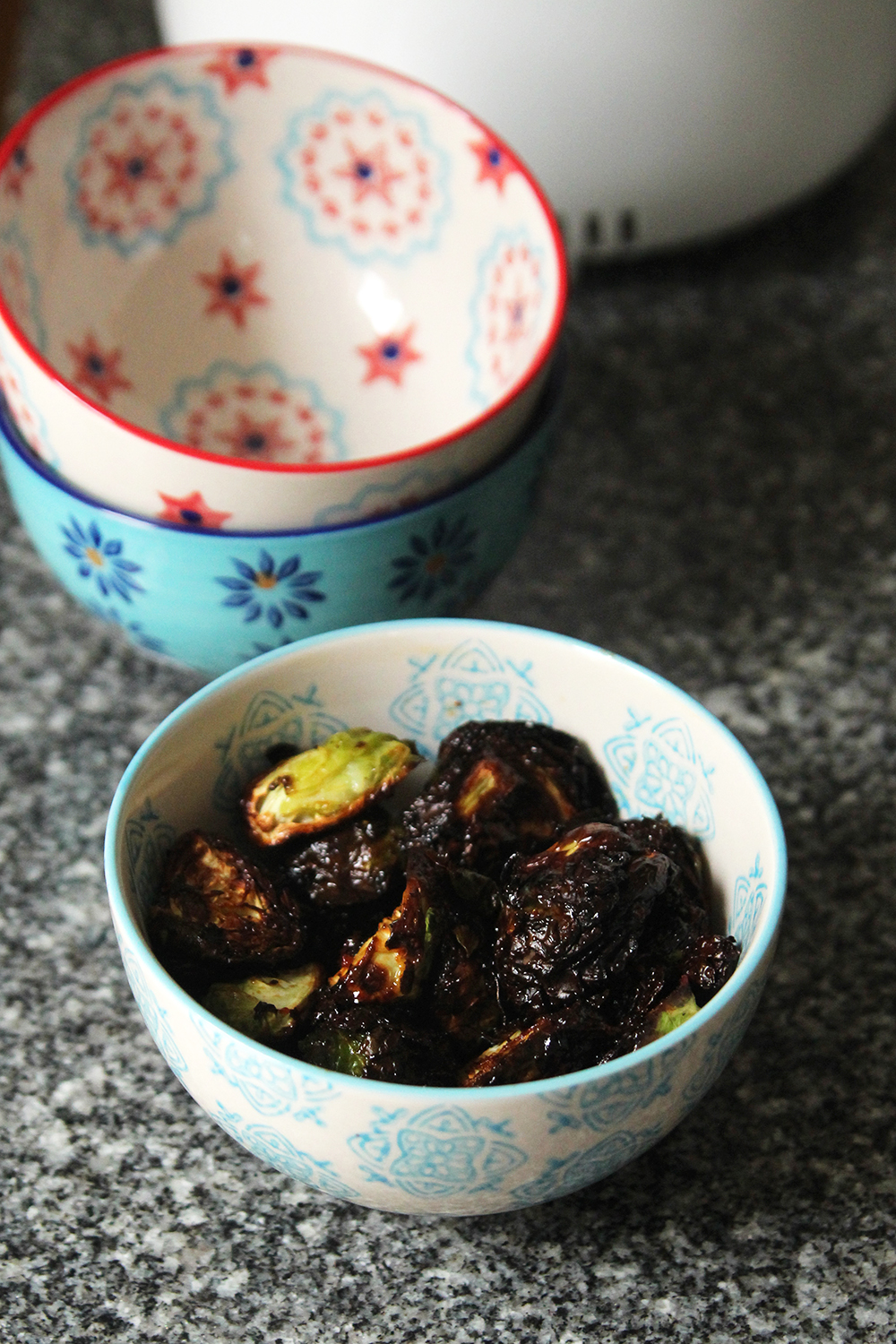 Spicy Teriyaki Fried Brussels Sprouts in the Air Fryer