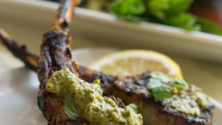 Indian-Spiced Lamb Lollipops with Mint Pesto - Crumb: A Food Blog