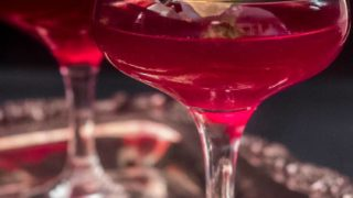 Chicha Morada and Pisco Cocktail