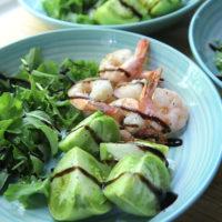Roasted Shrimp and Green Tomato Salad