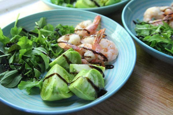 Roasted Shrimp and Green Tomato Salad