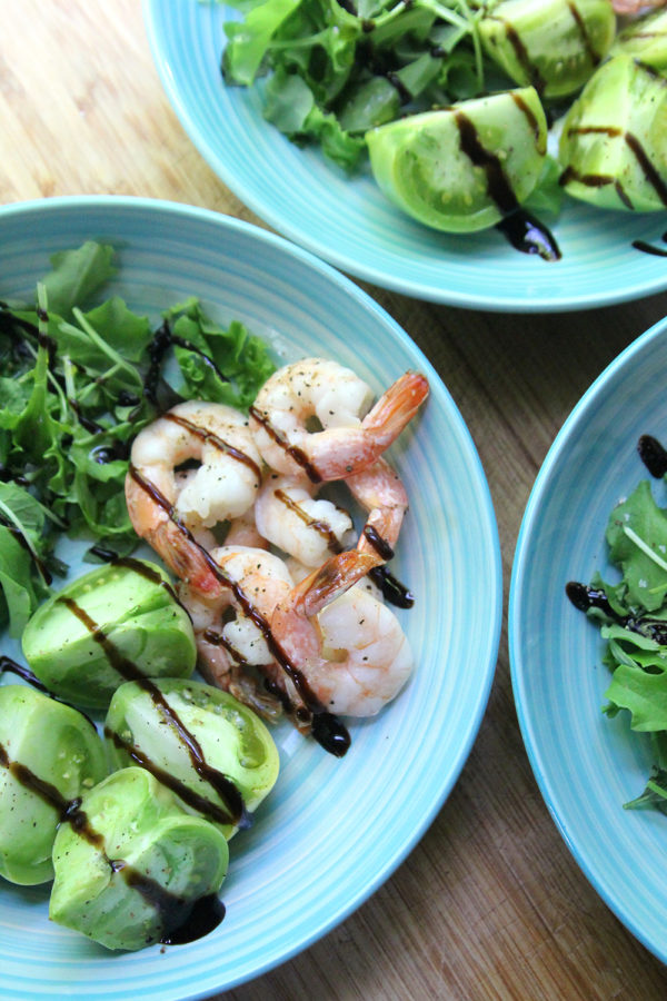 How to Make Roasted Shrimp and Green Tomato Salad