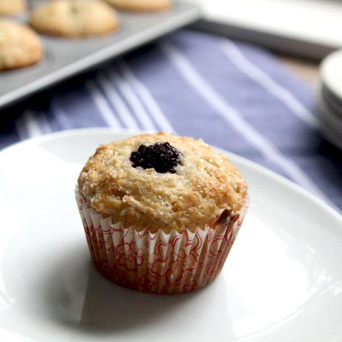 Apple Blackberry Cardamom Muffins