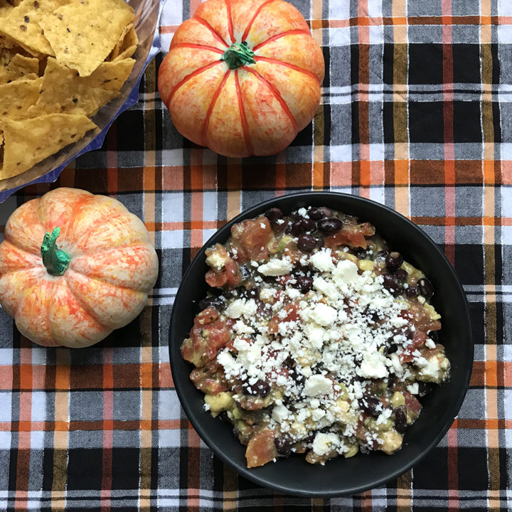 Black Bean, Tomato, Avocado and Cotija Dip