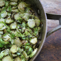 Sauteed Brussels Sprouts with Garlic