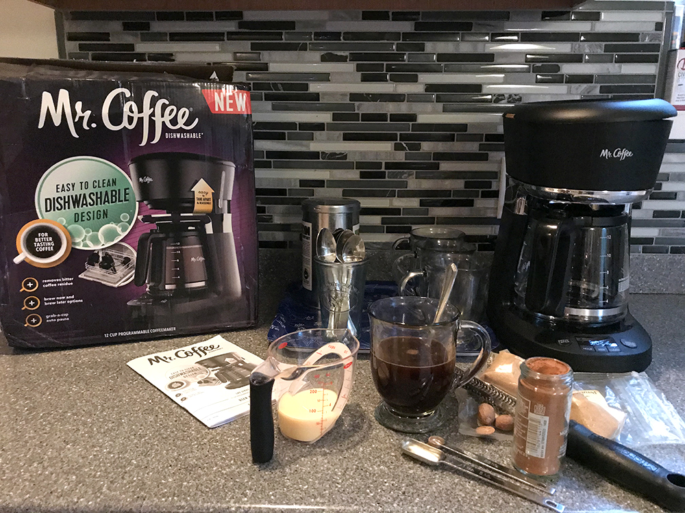 How to make an Eggnog Coffee with a Mr Coffee coffeemaker.